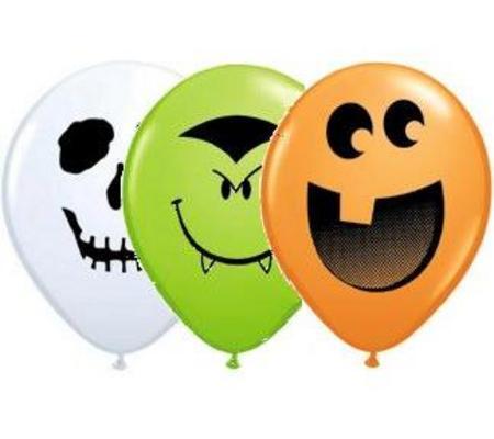 Halloween Face Assortment Latex Balloon Q97677