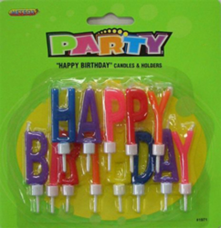 Happy Birthday Letter Candles Set