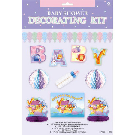 decoration baby shower wall decoration two by two decorating kit