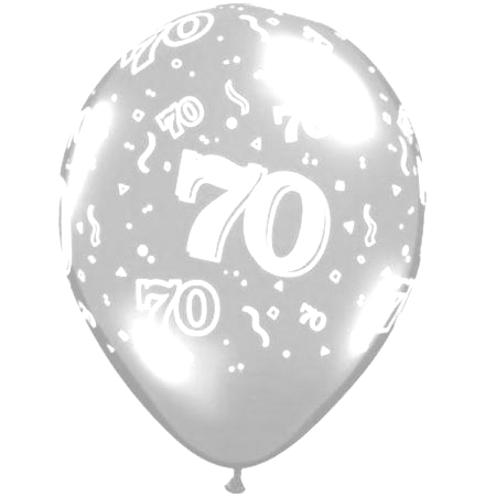 Age Birthday Balloons Clear 70th Balloon