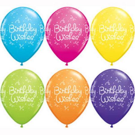 Birthday Wishes Tropical Assortment Latex Balloons Q37515