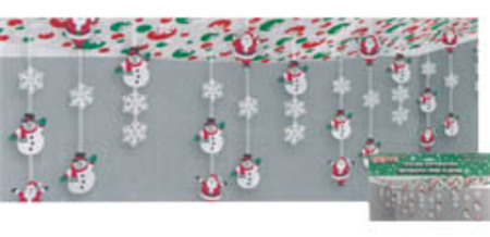 santa snowman ceiling decoration christmas decorations - Christmas Ceiling Decorations