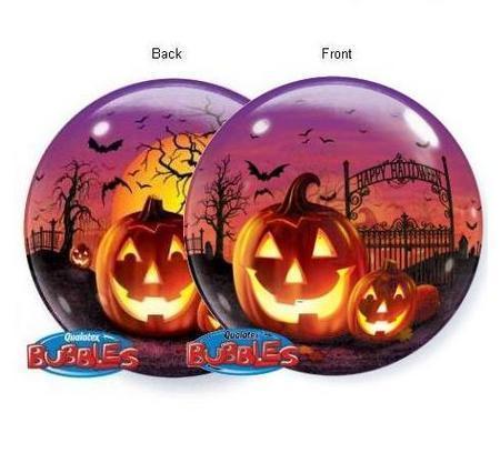 Haunted Halloween Jack Bubble Balloon Q21936