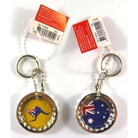 Australia Day Key Chain Bottle Cap Opener AM714550