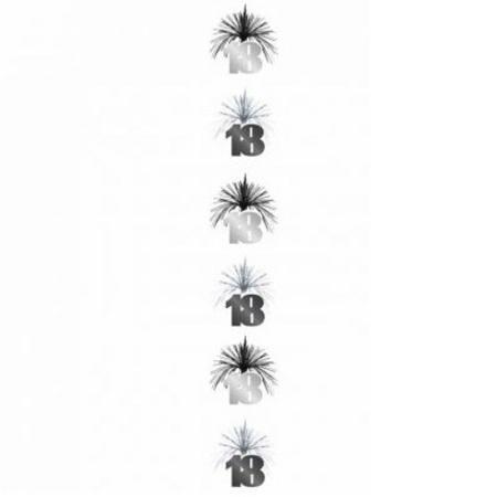 Black Silver Cascade Column 18 18th Birthday Decorations