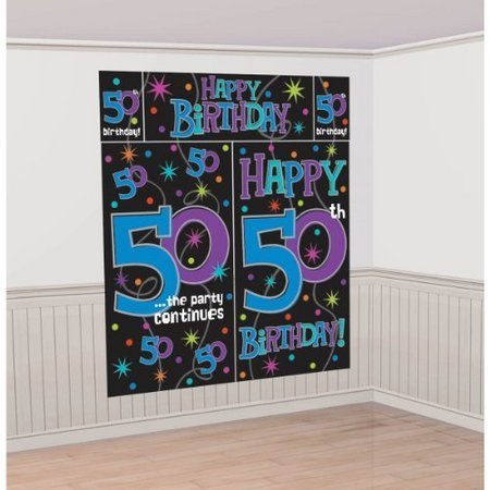 50th Birthday Party The Continues 50 Scene Setter Wall Decorating Kit