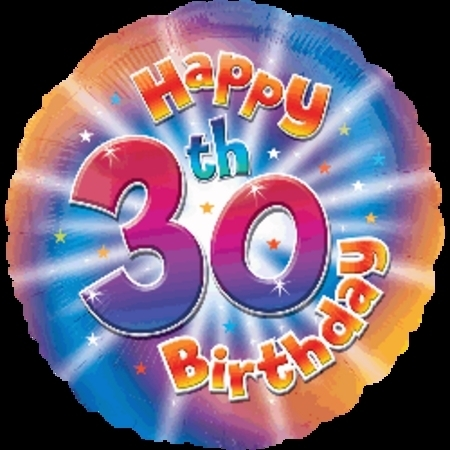 Happy 30th Birthday Foil Balloon ANA25910
