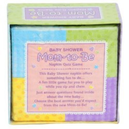 Baby Shower Mum To Be Napkin Quiz Game Am382427 Balloon World