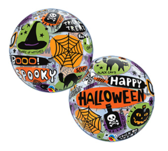 Halloween Messages & Icons 22 inch (56 cm) Bubble Balloon Q43433